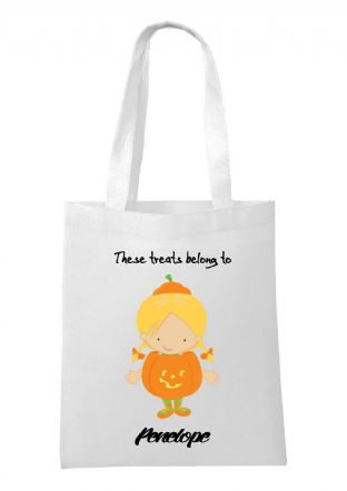 Halloween Girl Pumpkin Bag